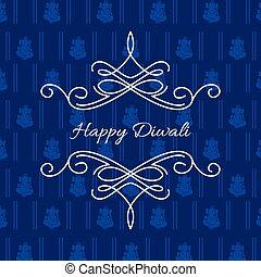 stylish card of diwali