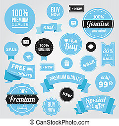 Vector Stylish Labels Badges Sticke