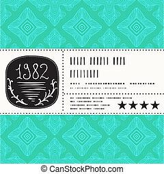Vector stylization of vintage label design