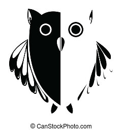 Vector stylized owl, background illustration