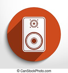 Vector sub woofer web icon. Eps 10.