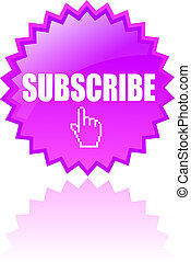 Vector subscribe icon