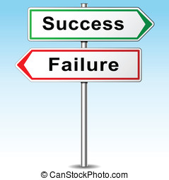Vector success and failure signs