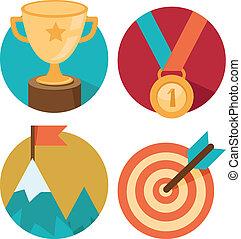 Vector success concepts - victory - Vector success concepts...