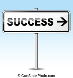 Vector success directional sign