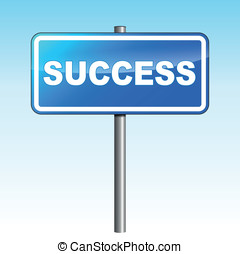 Vector success signpost