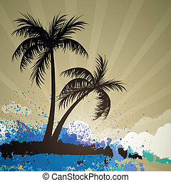 Vector Summer Background - Vector Illustration of a Summer...