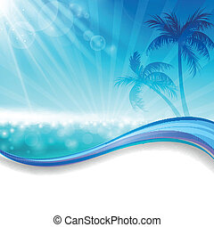 Vector Summer Background - Vector Illustration of a Summer...