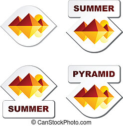 vector summer egypt pyramid stickers