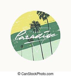 Vector summer graphic t-shirt design, poster, print.