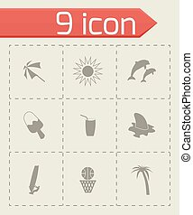 Vector summer icons set
