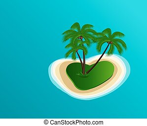 Vector Summer Island - Summer vector illustration of the...