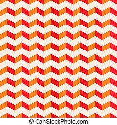 Vector summer seamless red pattern - Aztec chevron vector...