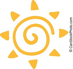 Vector sun icon isolated on white background. Sun Vector...
