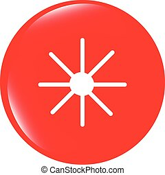 vector Sun icon on round button collection original illustration
