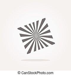 vector Sun Icon on Round Button Collection Original Illustration. Web Icon Art. Graphic Icon Drawing