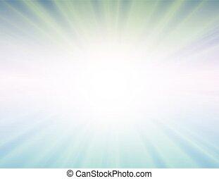 vector sun on blue background