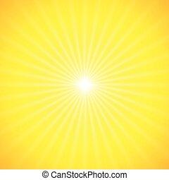 vector sun on yellow background