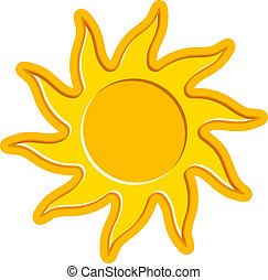 vector sun symbol