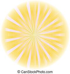 vector., sunburst, astratto