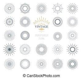 vector, sunburst., illustratie