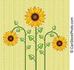 vector sunflower background