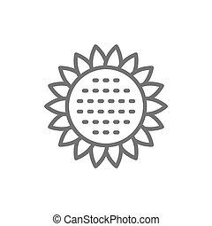 Download Sunflower vector cartoon icon for print design. vector ...