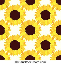 vector sunflower flower pattern