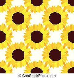 vector sunflower flower pattern