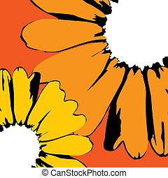 vector sunflowers
