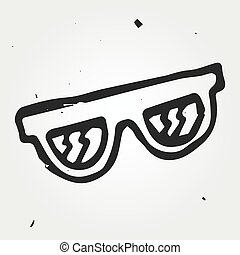 Vector sunglasses, hand drawn