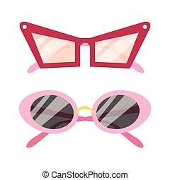 Vector Sunglasses icon set