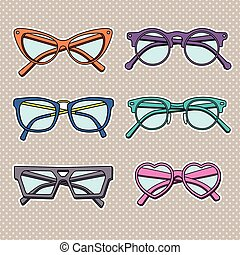 vector sunglasses icons