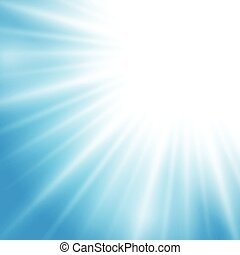 Vector sunlight effect on blue background