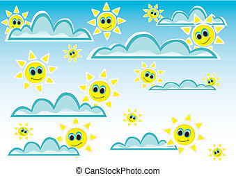 vector sunny blue sky background