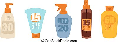 vector, sunscreen, illustration., crema