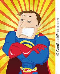 Super Man Hero Dad. Happy Father Day - Vector - Super Man...