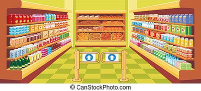 vector, supermarket.