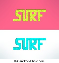 Vintage surfing wear stamp design  surf clothing shop logo  graphics