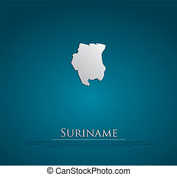 vector Suriname Map card paper