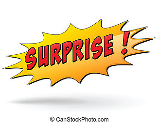 Vector surprise sign - Vector illustration of surprise...