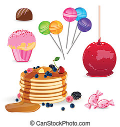 Vector Sweet Elements - Vector Illustration of Sweet...