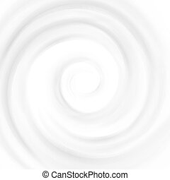 Vector Swirl Cream Texture Backgrounds Isolated on White