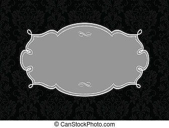 Vector Swirl Frame and Pattern