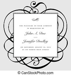 Vector Swirl Ornaments and Dotted Frame - Vector ornate...