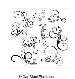 vector, swirls