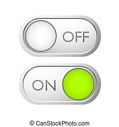 Vector switchers - Set of metal on off switchers / sliders