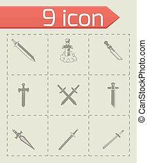 Vector Sword icon set