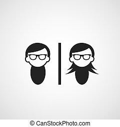 vector symbol  man and woman