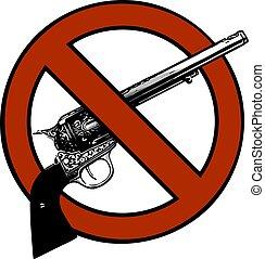 vector symbol no gun sign - isolated illustration